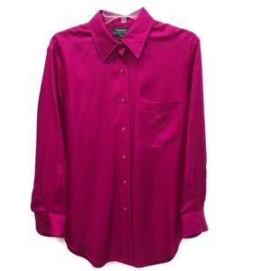 Ralph Lauren fuschia insignia silk blouse